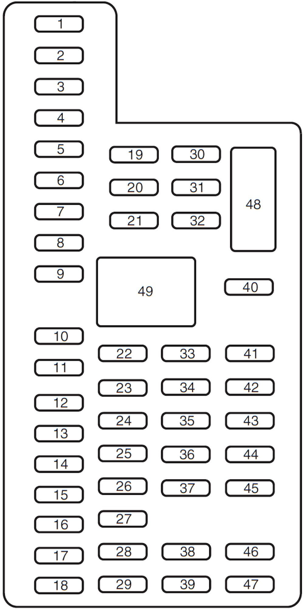 2008 Ford F 250 Fuse Panel Diagram On Ford F 250 Fuse Box Layout