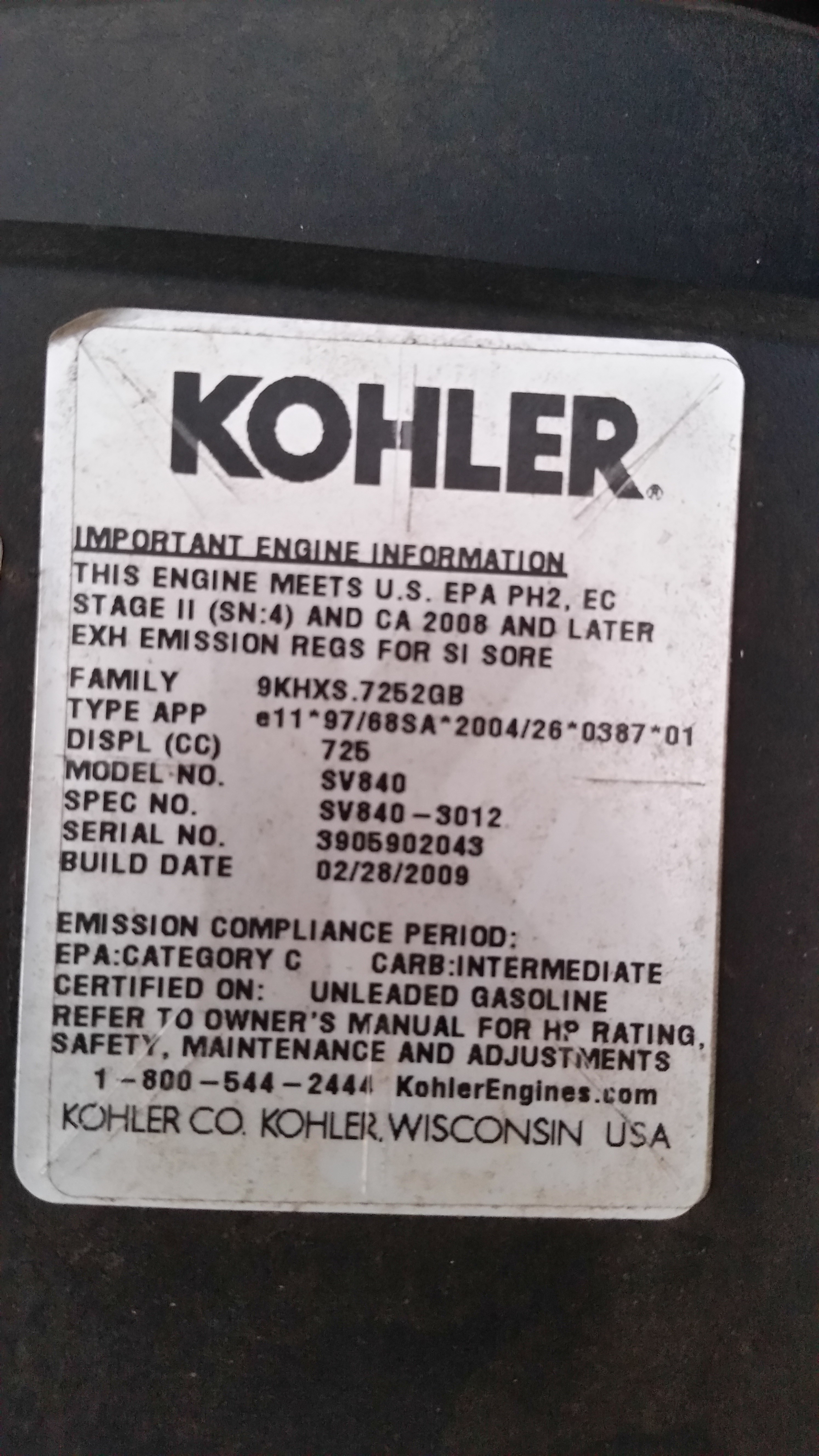 Ok The Last Question Was To Easy Im Working On A Kohler Sv840 Cv22s Wiring Diagram Bad Boy 3
