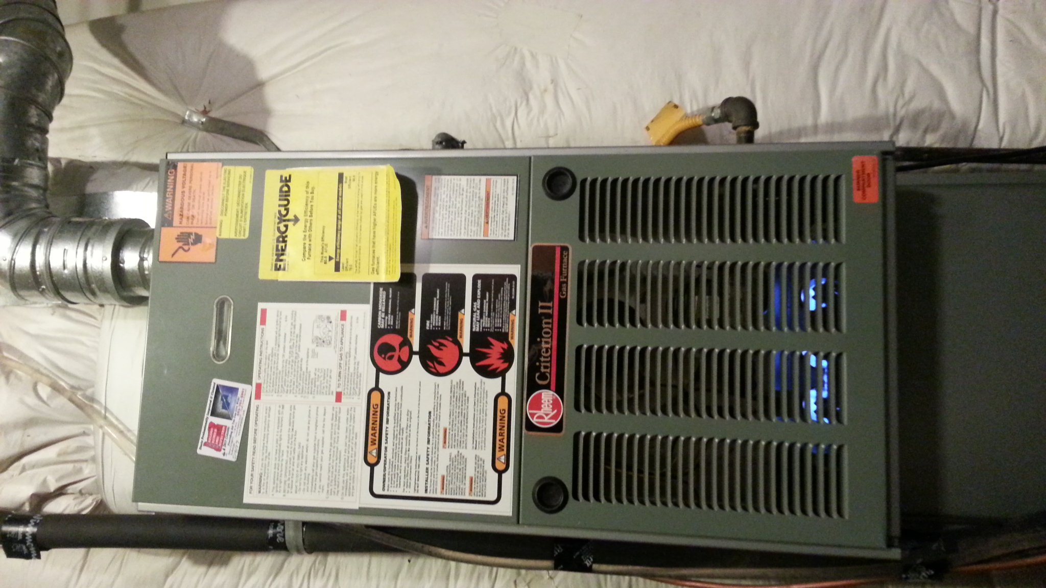 We Have A Rheem Criterion Ii Furnace  Model Number Rglh
