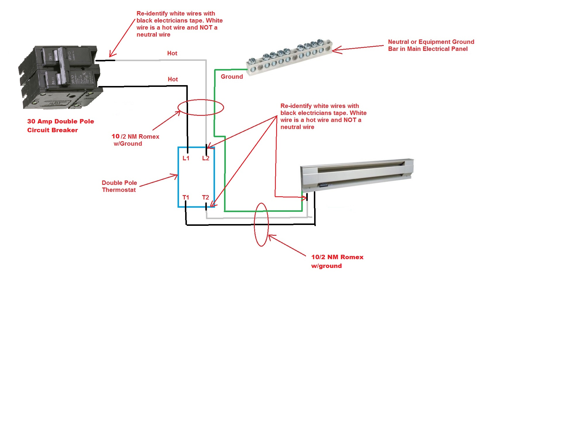 how do i replace my rotary 4 wire 240v thermostat with a 2 wire rh justanswer com