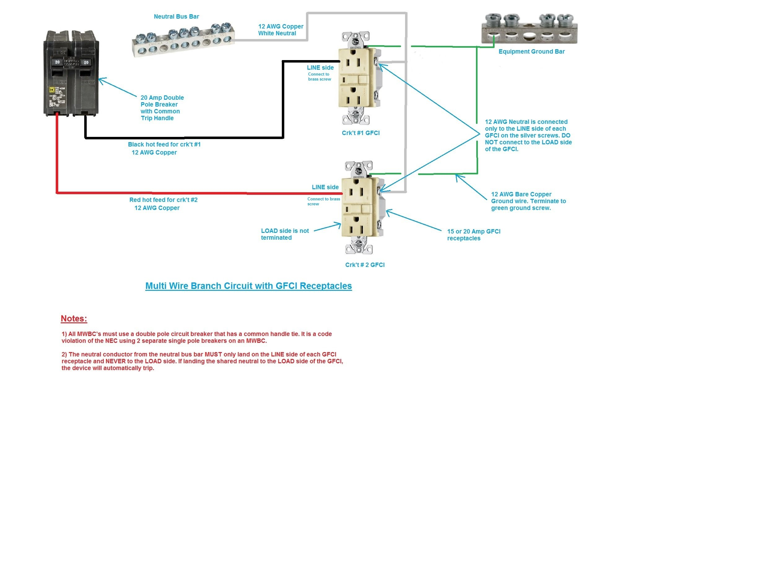 Nec Gfci Wiring Diagram | Wiring Diagram  Amp Gfci Wiring Diagrams on 240v breaker box wiring diagrams, kitchen lighting layout diagrams, separately derived system diagrams,