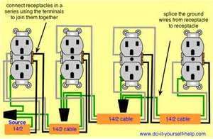 15 Amp Wiring Multiple Outlets I Have A Gfci Outlet In The Kitchen And It Trips Every 15 Wiring Diagrams For Multiple Receptacle Outlets Do It Electrical Replacing Gfci Outlet Inside 2