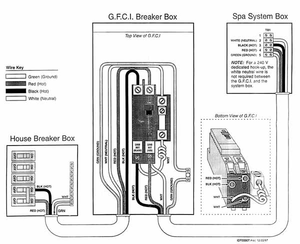 i'm having an issue with my hot tub cuircuit, the breaker ... hot tub gfci wiring diagram