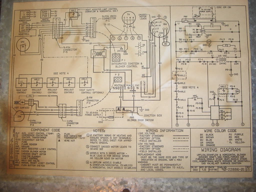 Diagram  Gas Pack Furnace Wiring Diagram Full Version Hd