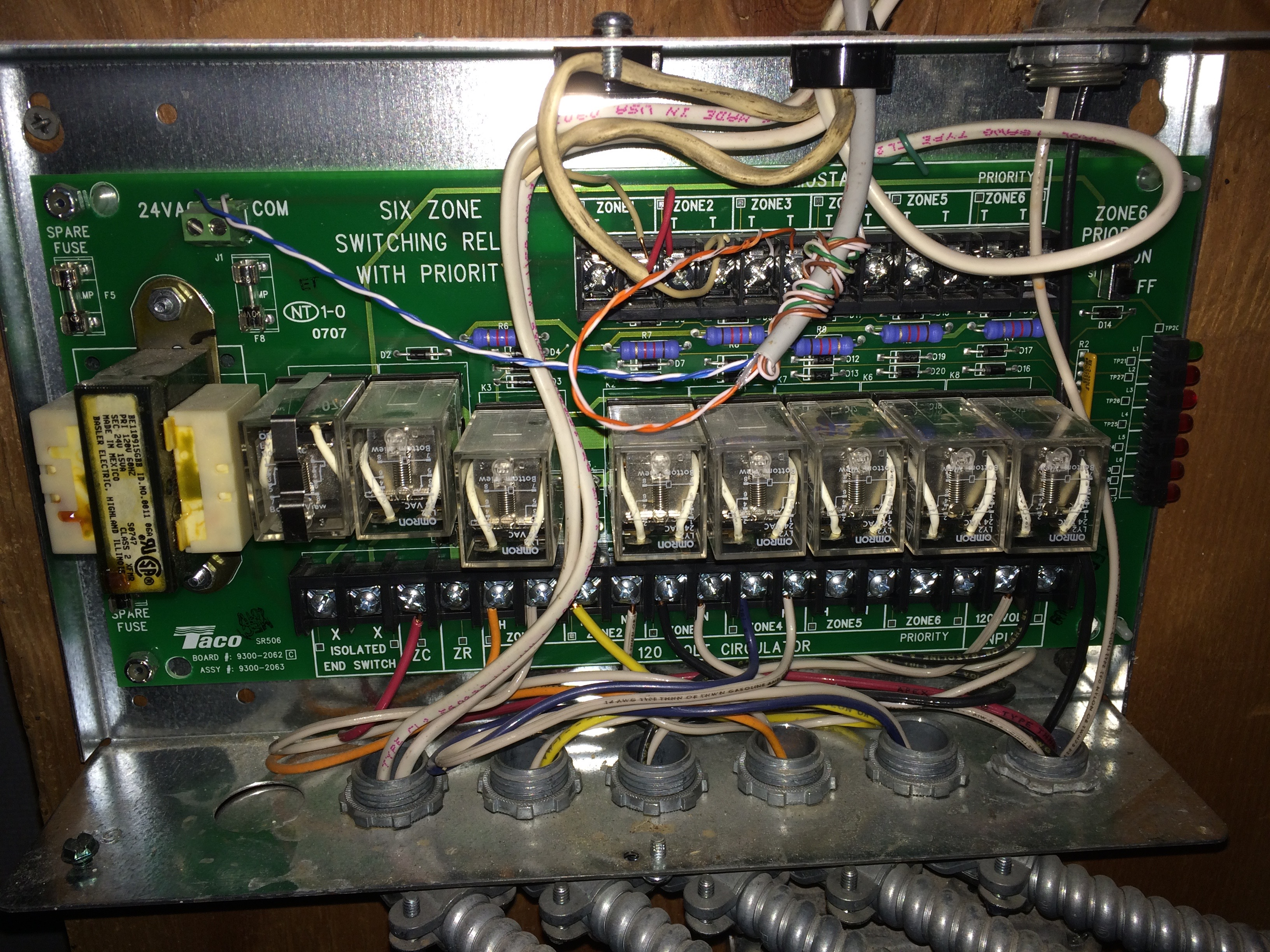 I Am Adding A Wireless Thermostat To New Zone Have Added The Taco Zvc404 Wiring Img 0683img 0683 0682