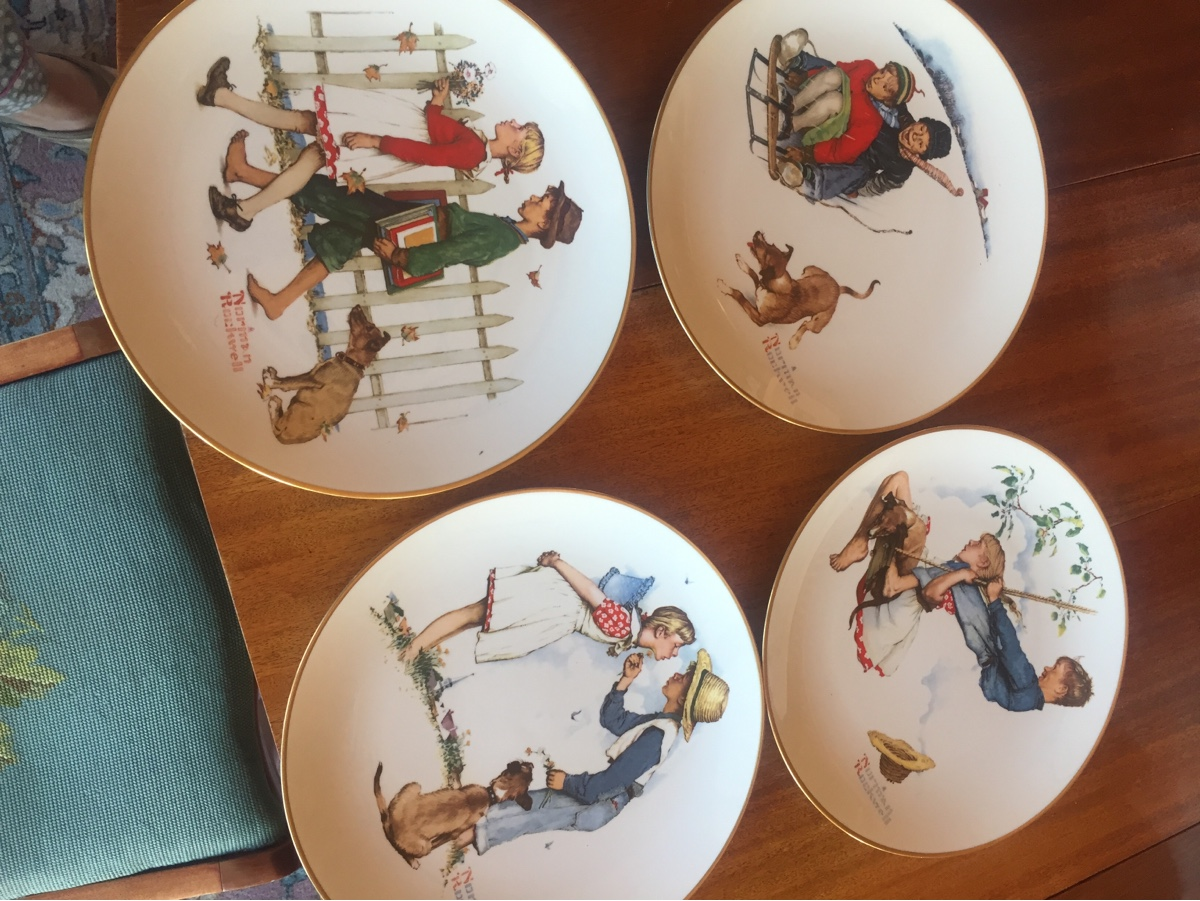 This is a set of four Norman Rockwell plates This Selection From the ...