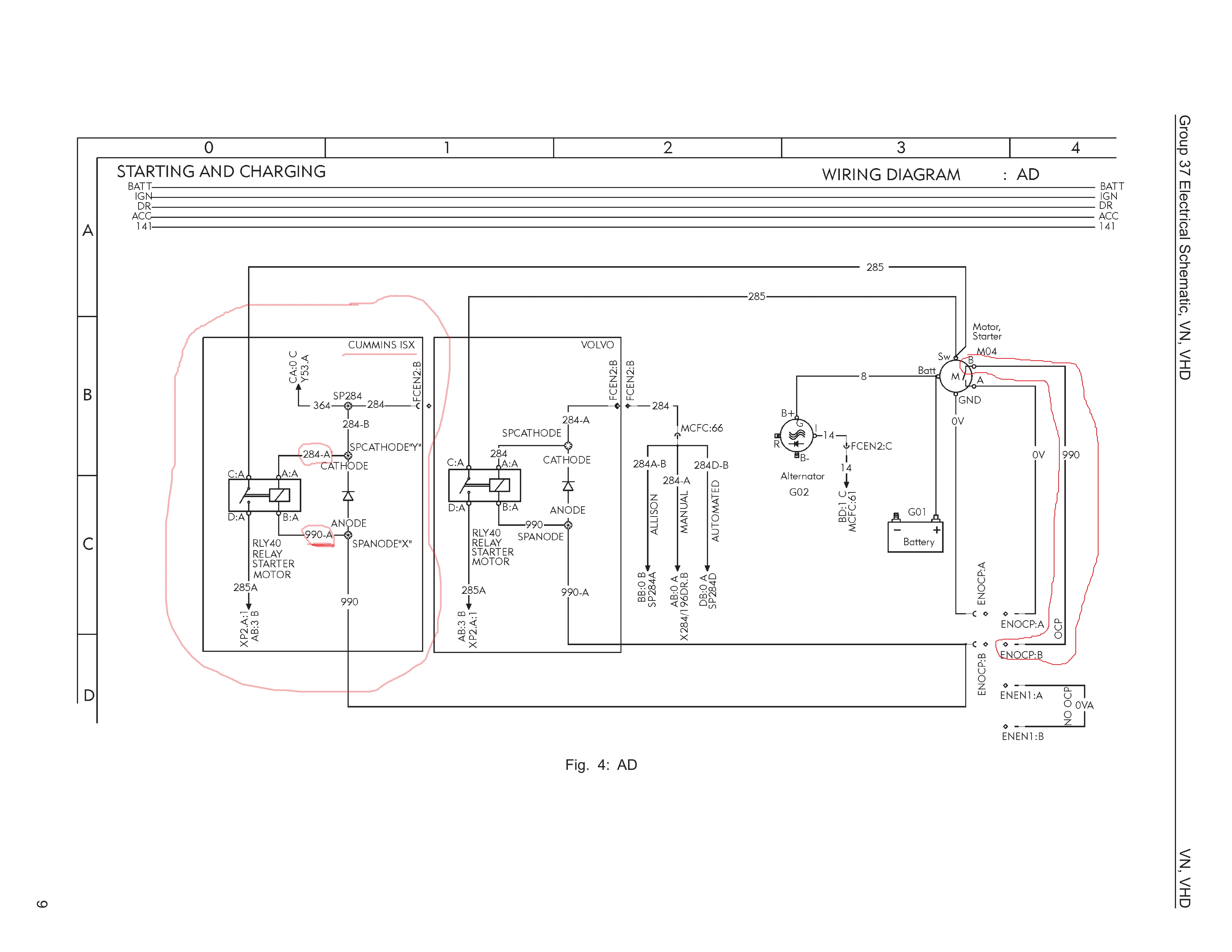 Please Help No Click Crank I Have 2007 Volvo Vnl With Isx Cm870 770 Fuse Box Diagram Electrical Schematic1