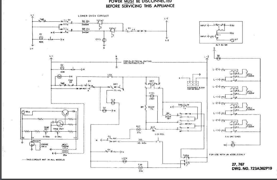 I Need A Wiring Diagram For A Wall Oven  General Electric