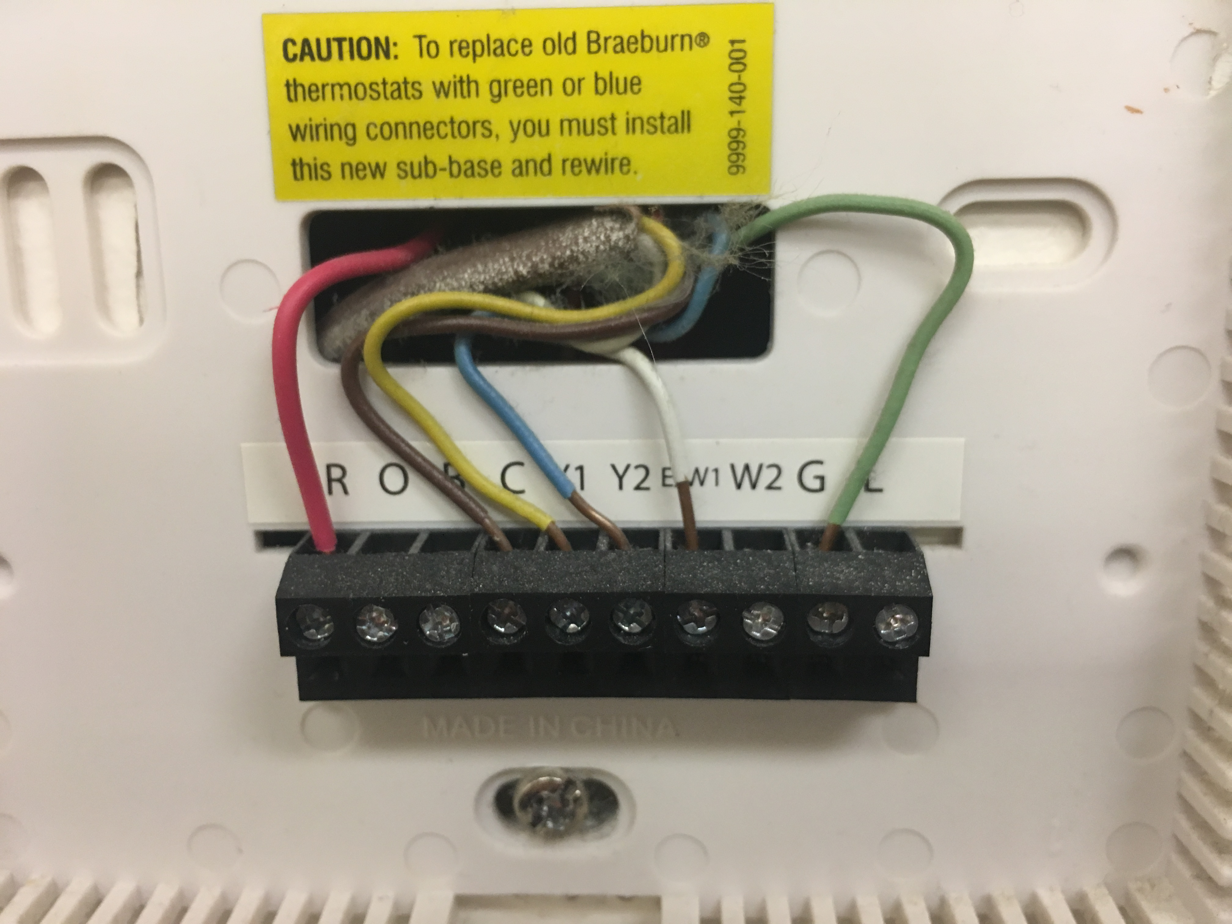 Luxpro Thermostat Wiring Diagram Braeburn Guide And Troubleshooting Of I Am Disconnecting An Old To Install A New Lux Rh Justanswer Com 1020 3220