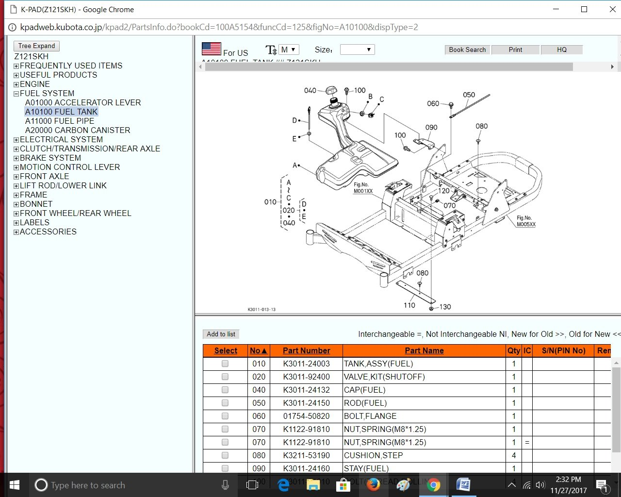 Kubota Z121s Parts Diagram