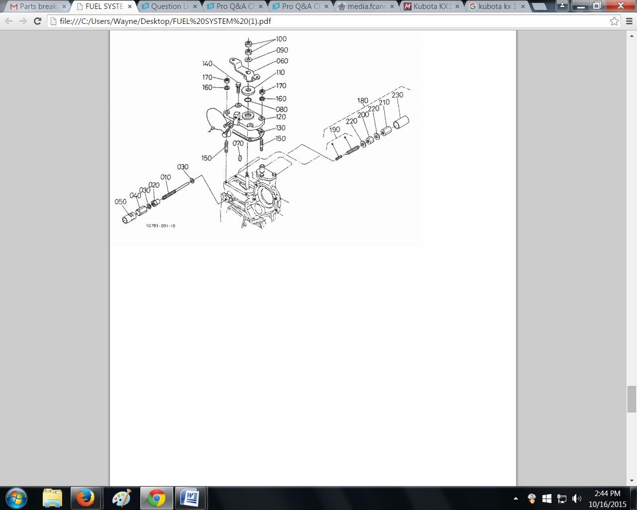 I have a kx123-3 super Kubota excavator the idle control is