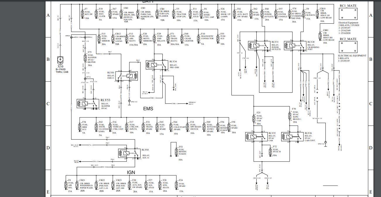 I Have A 1997 Mack Ch613  Mack  I Need The Fuse Diagram  Panel