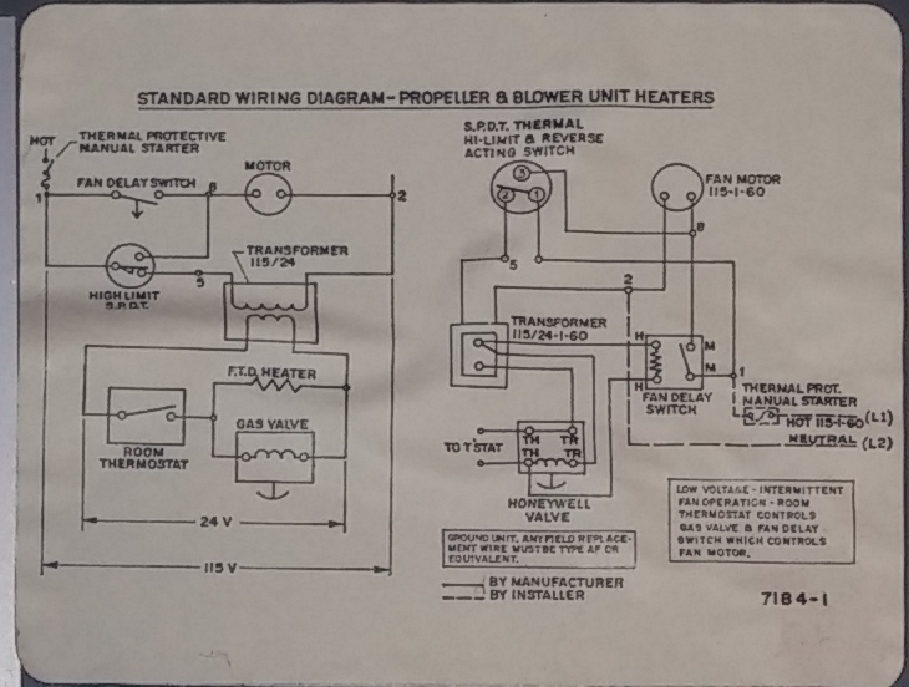 Why has Dayton 3E227A heater stopped working properly? Dayton Garage Heater Wiring Diagram on