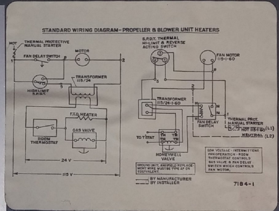 Dayton Diagram Wiring Heater 3e227a    Wiring Diagram