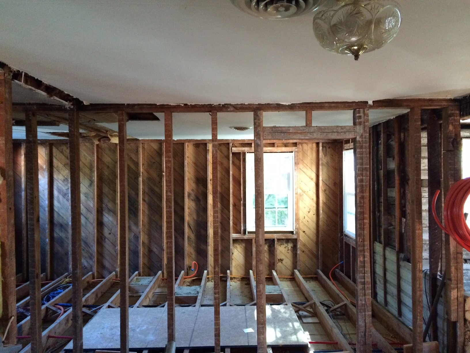 Renovating a home with balloon framing. We plan to remove an ...
