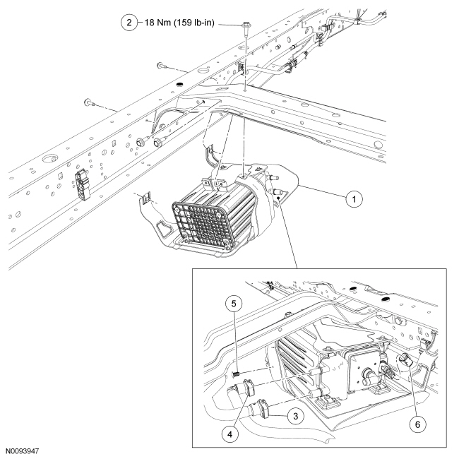 2012 Ford E 350 Xlt Super Duty Evap Canister Location