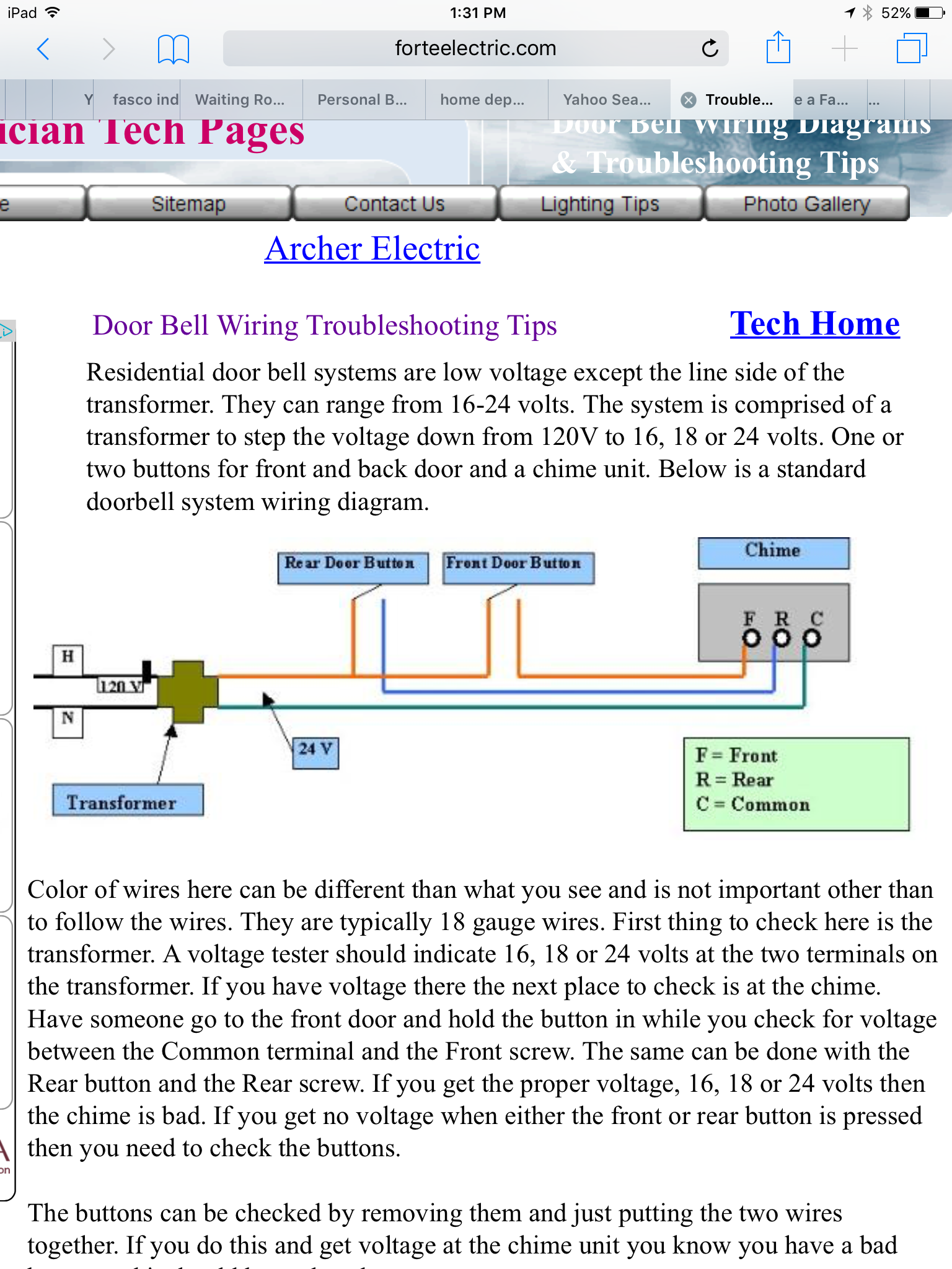 I Have A Fasco Doorbell Chime Model 64b 1 Need Operating Wiring Diagram Image