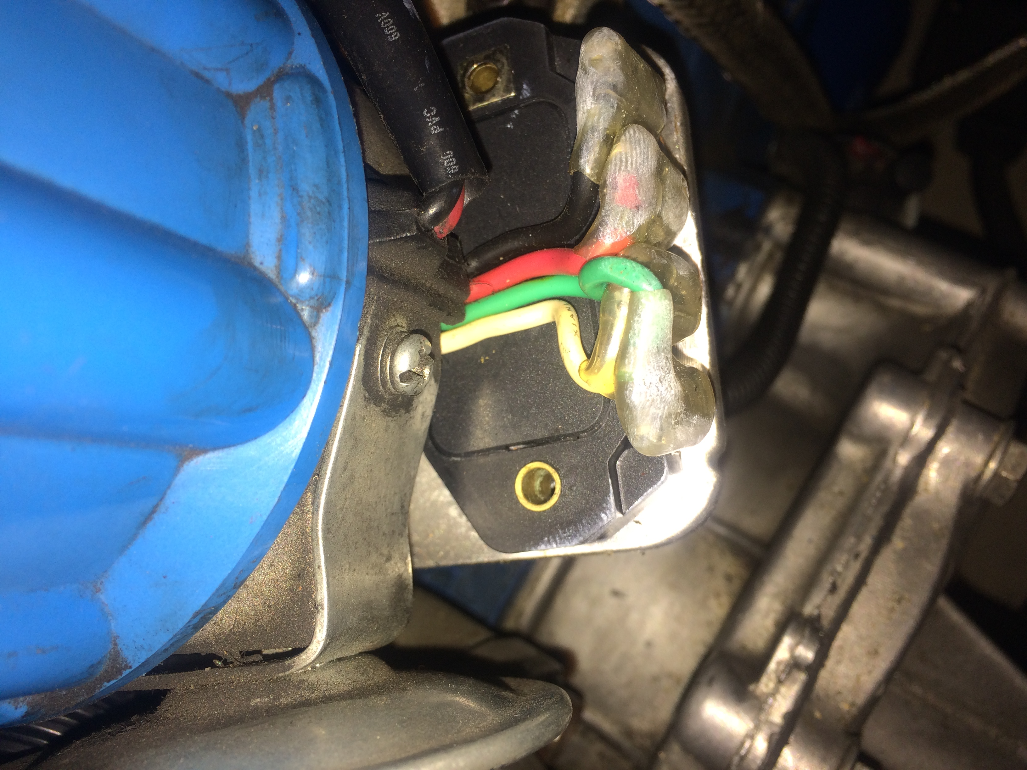 I Have Purchased A Msd 6al Ignition Unit And Fitted It To My 65 Box Combination Wiring Diagram Wires Hook Up The Violet Green Img 5085