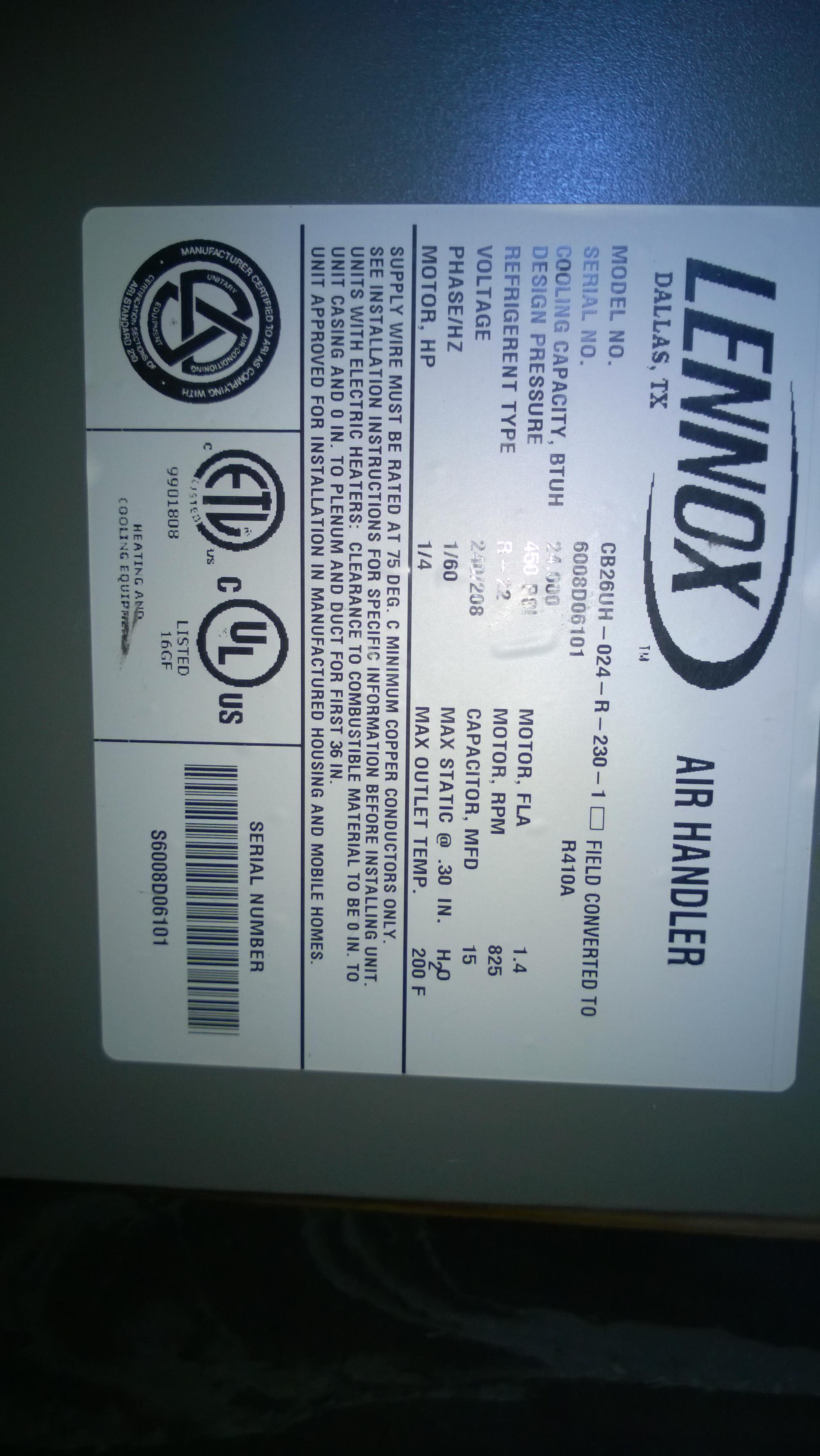 I Have A Lennox Heat Pump W Electrical Aux Emergency Approx Nordyne Thermostat 914832 Wiring Diagram Air Handler