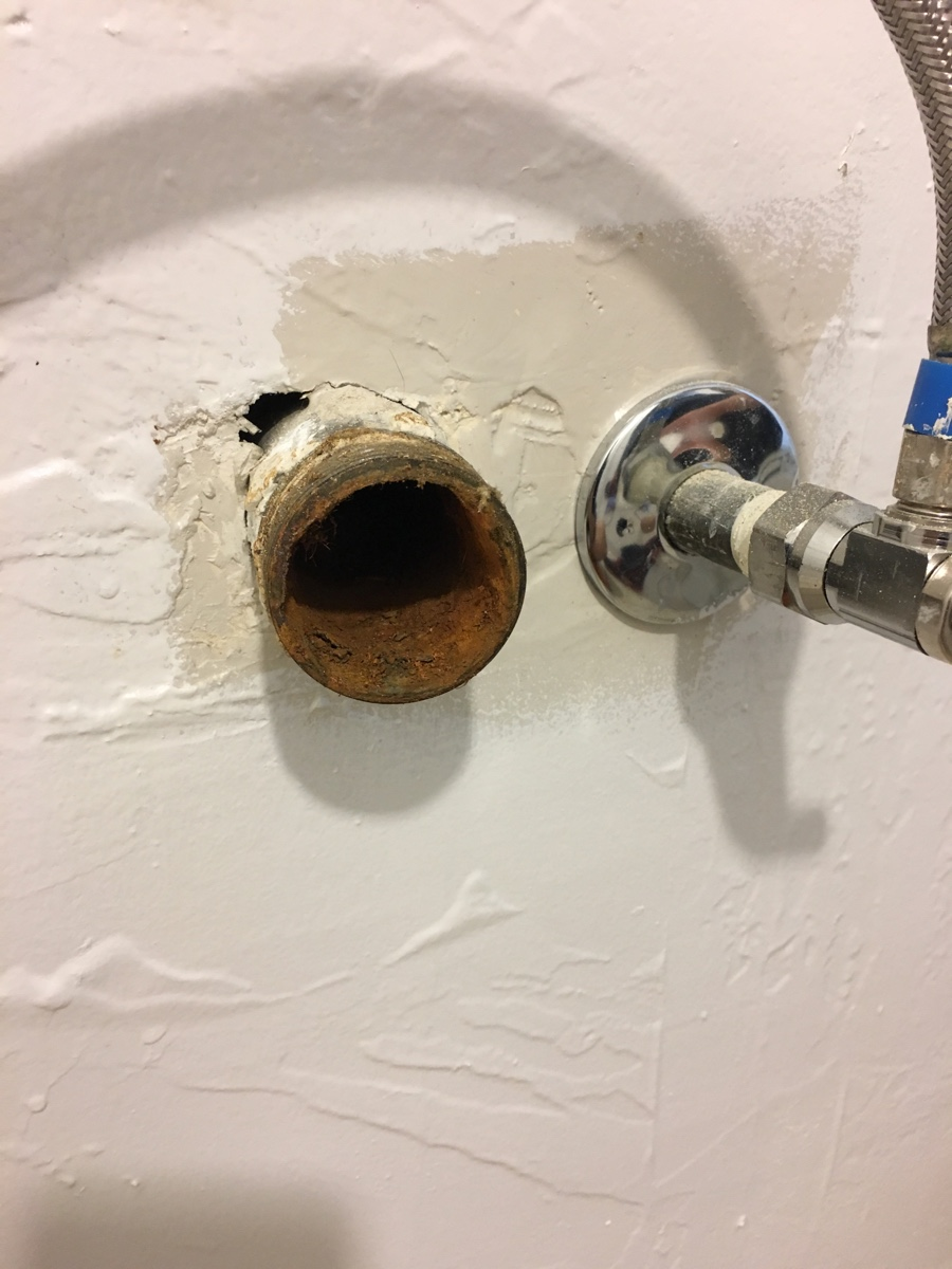 I Need To Install A P Trap From An Ikea Sink As Close To The Wall As Possible The Existing Drain Pipe In The Wall Is