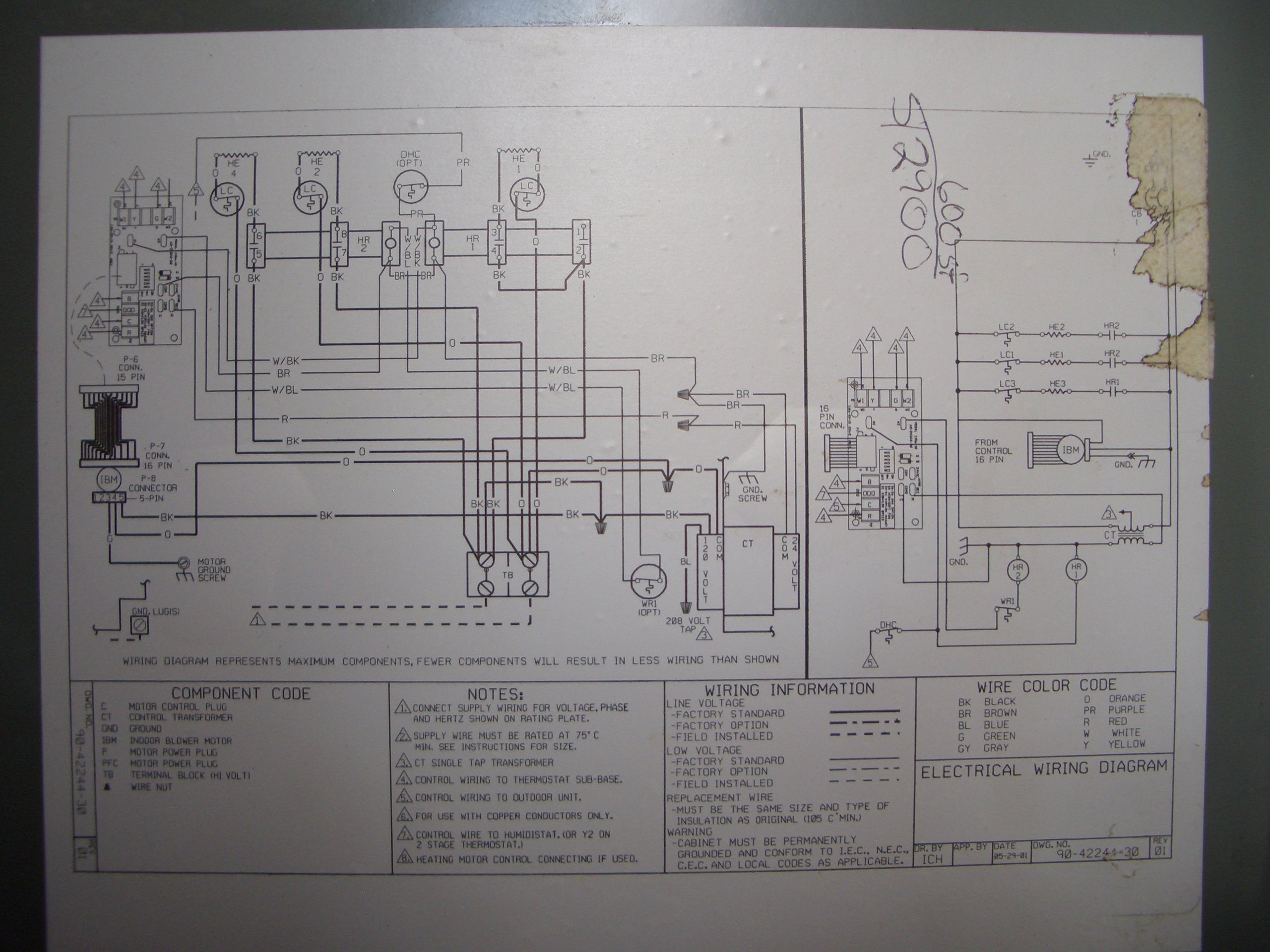 I Have No Defrost Cycle On My Rheem Rbhk 2005 Series Air Timer Wiring Diagrams Schematic